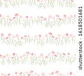cute hand drawn meadow seamless ... | Shutterstock .eps vector #1618501681