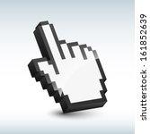vector hand cursor | Shutterstock .eps vector #161852639