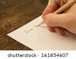 a close photo of a persons... | Shutterstock . vector #161854607