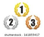 illustration of three laurel... | Shutterstock . vector #161855417