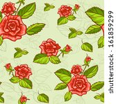 seamless floral pattern with...   Shutterstock .eps vector #161859299