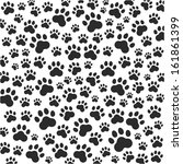 cat or dog paws background.... | Shutterstock .eps vector #161861399