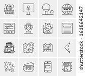 16 business universal icons...   Shutterstock .eps vector #1618642147