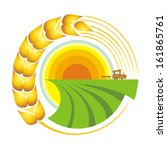 harvest. vector illustration.  | Shutterstock .eps vector #161865761