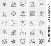 25 universal icons vector...   Shutterstock .eps vector #1618669027