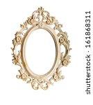 oval ornate vintage frame... | Shutterstock . vector #161868311