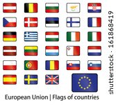 european union flags of... | Shutterstock .eps vector #161868419