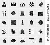 25 universal icons vector...   Shutterstock .eps vector #1618694251