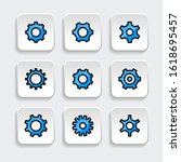 set of gear icon with trendy...