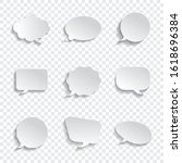 white blank speech bubbles...   Shutterstock .eps vector #1618696384
