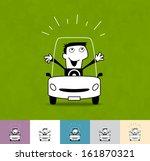 driver. business cartoon...