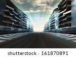 racetrack in business city in... | Shutterstock . vector #161870891