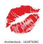 realistic lip mark | Shutterstock . vector #161876381