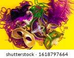 Festive Carnival Masks And...