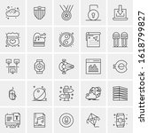 25 universal icons vector...   Shutterstock .eps vector #1618799827