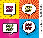 pop art explosion over colorful ... | Shutterstock .eps vector #161883905
