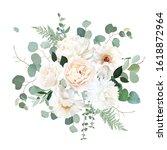 ivory beige rose  white and...   Shutterstock .eps vector #1618872964