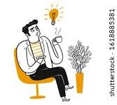 businessman  male office worker ...   Shutterstock .eps vector #1618885381