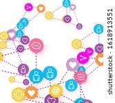 social media marketing ... | Shutterstock .eps vector #1618913551