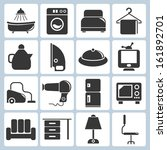 household icons  kitchen ware... | Shutterstock .eps vector #161892701