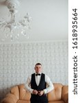 young and handsome groom... | Shutterstock . vector #1618935664