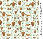 Cute Pattern With Dog  Dog Paws ...