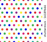 bright polka dots background in ... | Shutterstock . vector #16189666