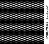 Tiny White Polka Dots On Black...