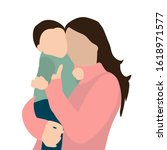 vector  isolated  mom and baby... | Shutterstock .eps vector #1618971577