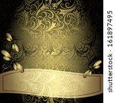 Black Gold Vintage Floral Fram...