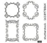 vector image. set of frame...   Shutterstock .eps vector #1618978864