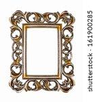 vintage frame isolated on white ... | Shutterstock . vector #161900285