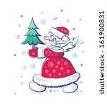 santa claus goes forward and... | Shutterstock .eps vector #161900831