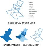 sarajevo city and state map... | Shutterstock .eps vector #1619039284