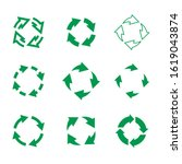 set of vgreenector refresh and... | Shutterstock .eps vector #1619043874