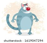 vector illustration of a funny... | Shutterstock .eps vector #1619047294
