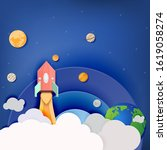 vector and illustration space...   Shutterstock .eps vector #1619058274