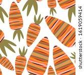 striped carrot. seamless...   Shutterstock .eps vector #1619059414