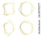 golden lines frame. abstract... | Shutterstock . vector #1619070277