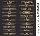 set of art deco dividers.... | Shutterstock . vector #1619074204