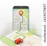 city map route navigation... | Shutterstock .eps vector #1619075857