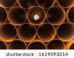 Rusty Steel Pipes  Brown...