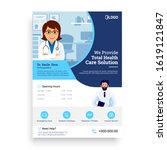 medical services flyer template ... | Shutterstock .eps vector #1619121847