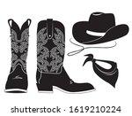 American Cowboy Clothes. Vector ...