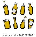 bottles mustard set. collection ... | Shutterstock .eps vector #1619229787