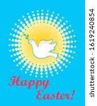 easter greeting card with... | Shutterstock .eps vector #1619240854
