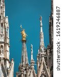 Milan Cathedral Spires  Italy....