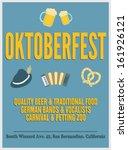oktoberfest retro poster with... | Shutterstock .eps vector #161926121