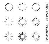 set of black vector refresh and ... | Shutterstock .eps vector #1619267281