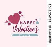 happy valentine's day 2020...   Shutterstock .eps vector #1619279401